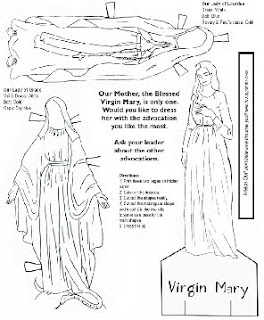 catholic coloring pages hail mary - photo#26