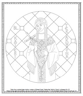 Blessed kateri tekakwitha feast day july 14 for St kateri coloring page