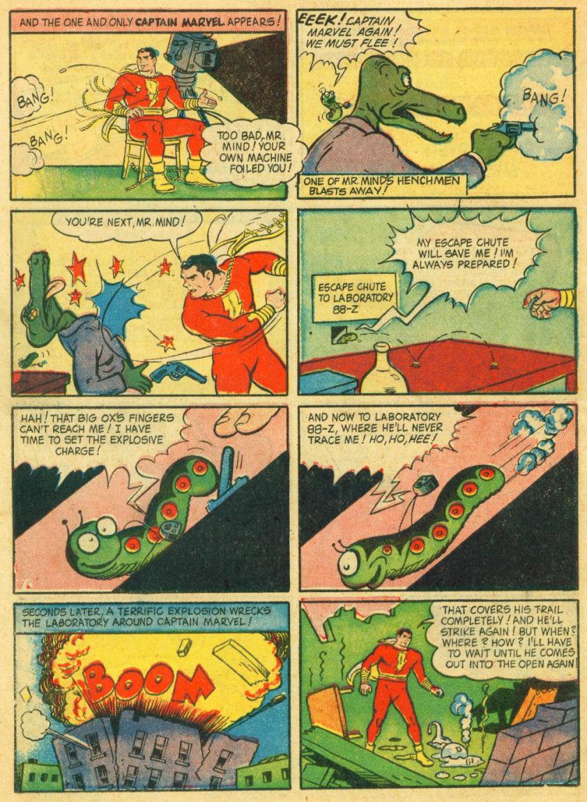 Página clássica da Sociedade dos Monstros original. Arte de C.C. Beck.