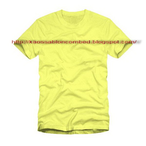 Kaos Kuning Polos Anak Tshirt Oblong