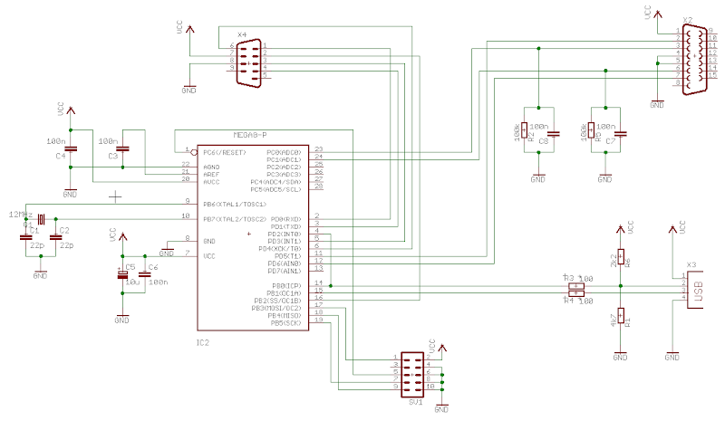 Schematics Electronic Components: Schematics USB Joy Adapter