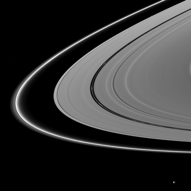 Pan shadow on Saturn's rings