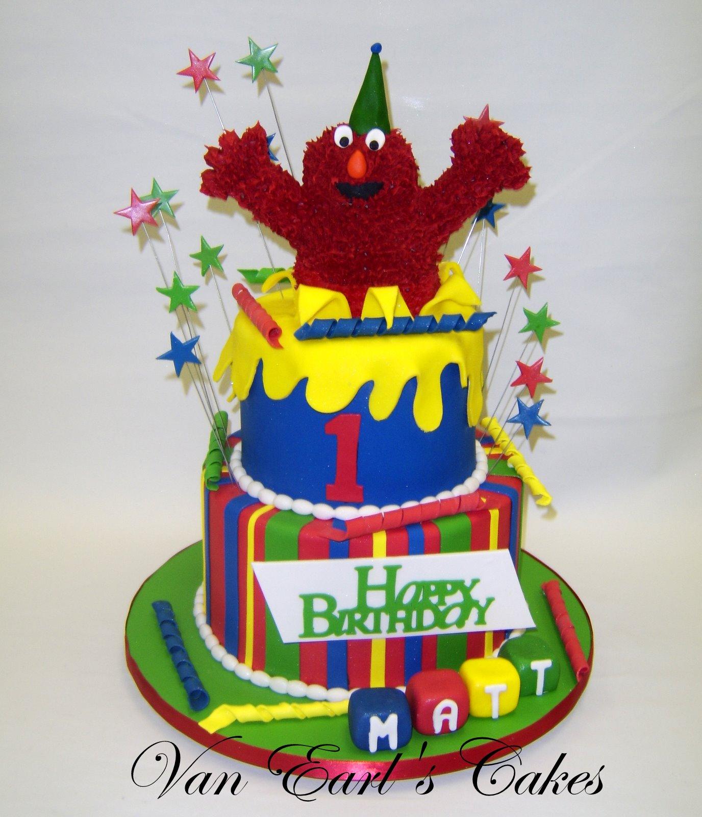 Van Earl S Cakes Elmo 1st Birthday Cake