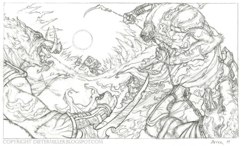 Dieter Miller Illustration: WAR PIGS!