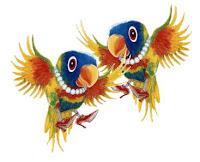 Resultado de imagem para Uma senhora chega no padre e diz: - Padre me ajude! Eu ganhei duas papagaias de um puteiro, mas elas só sabem dizer uma coisa: