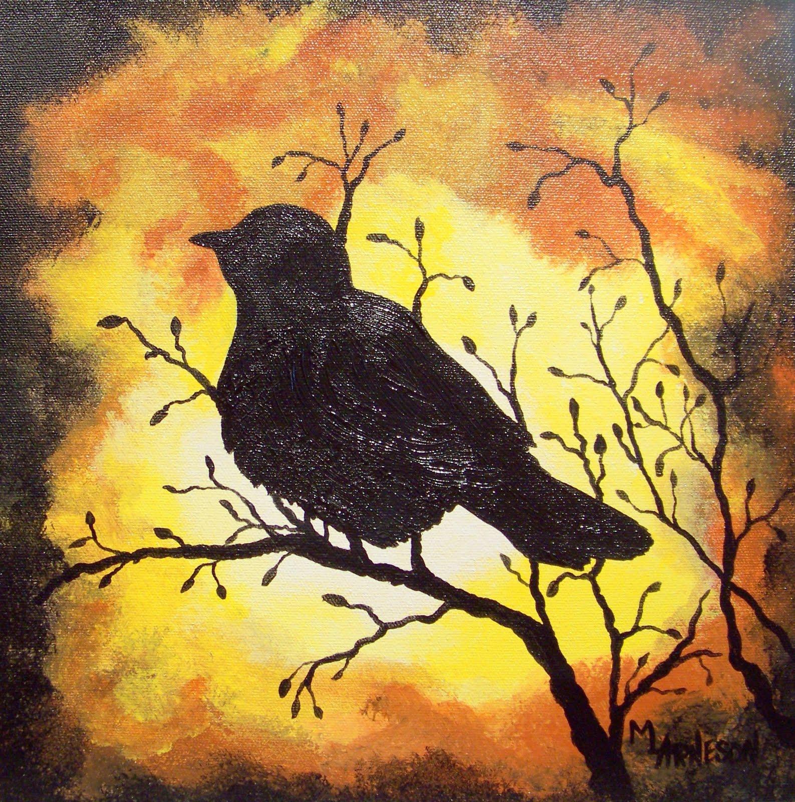 "Daily Painters Of Colorado: ""Bird in Black"" Silhouette ..."