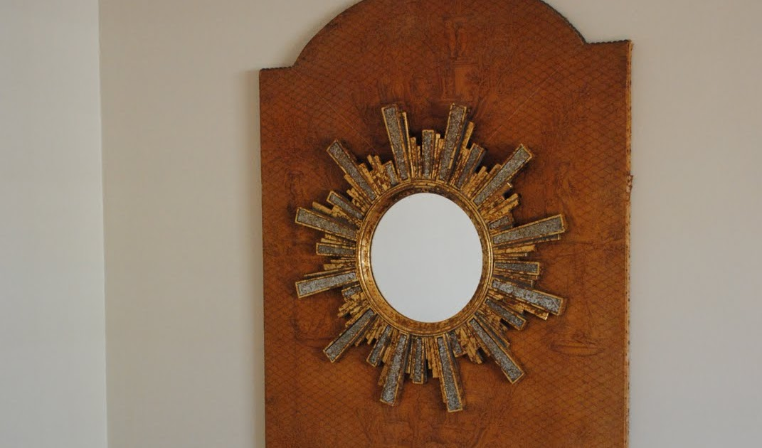 A Perfect Gray Starburst Mirror Project