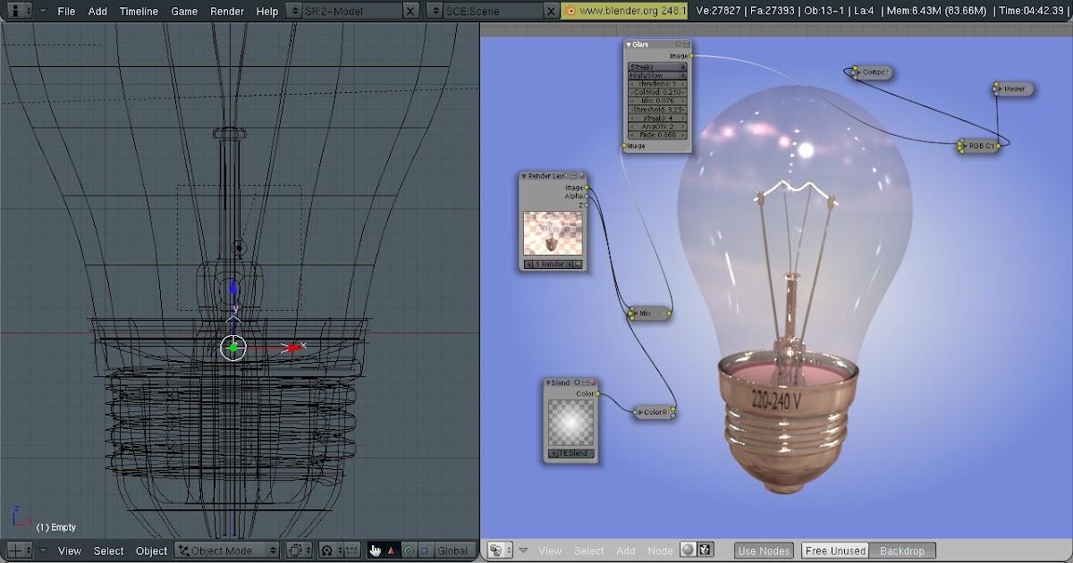 blender 4d mod lisation ampoule incandescence. Black Bedroom Furniture Sets. Home Design Ideas