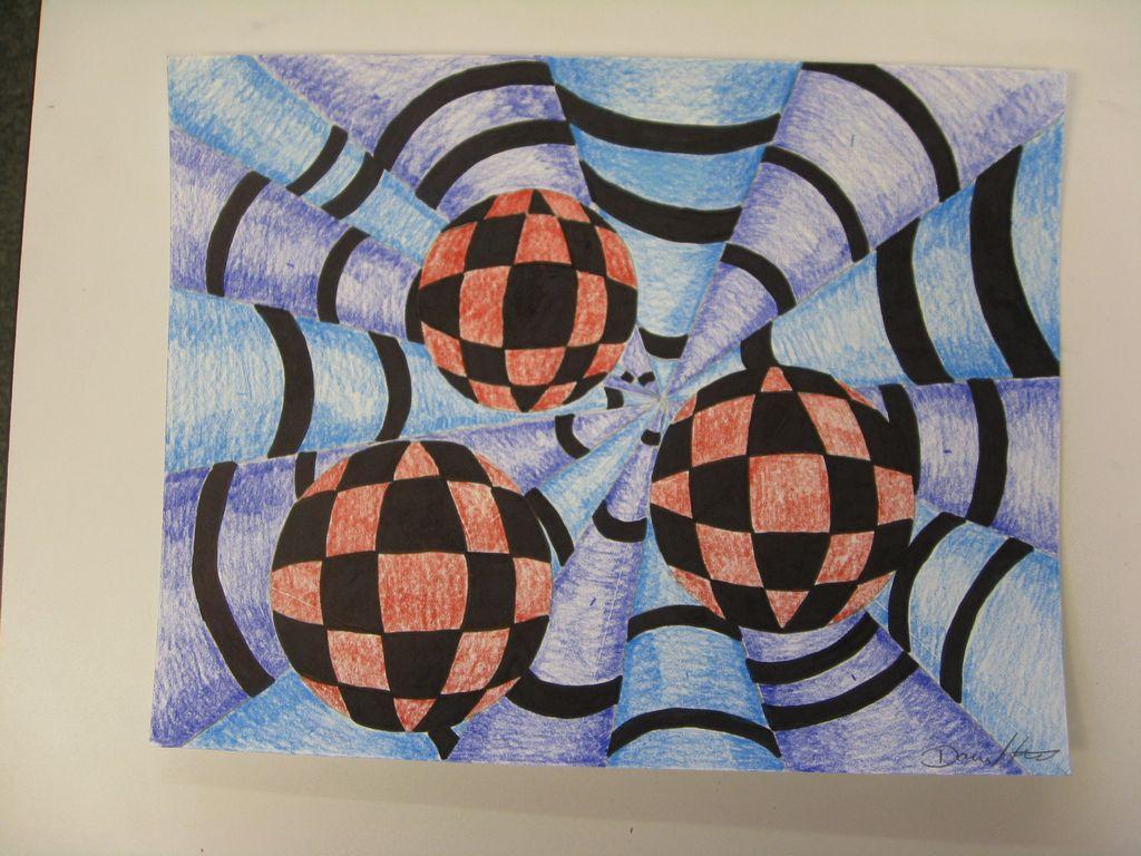 Art With Mrs Smith Op Art Spheres Amp Cones
