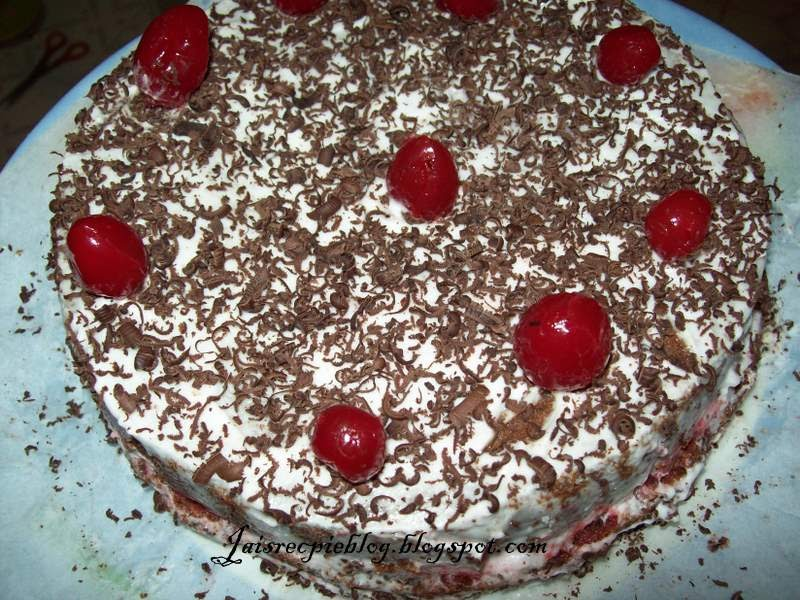 Eggless Black Forest Cake Recipe With Pictures Step By Step