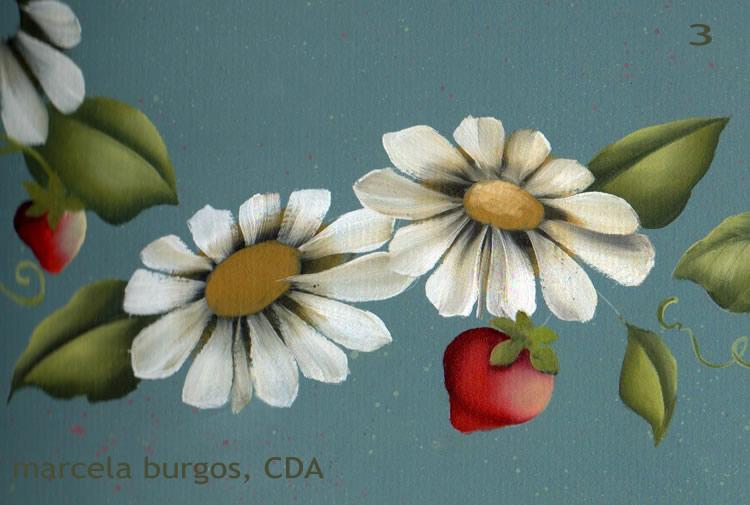 Art by chela como pintar margaritas - Pintar con acrilicos paso a paso ...