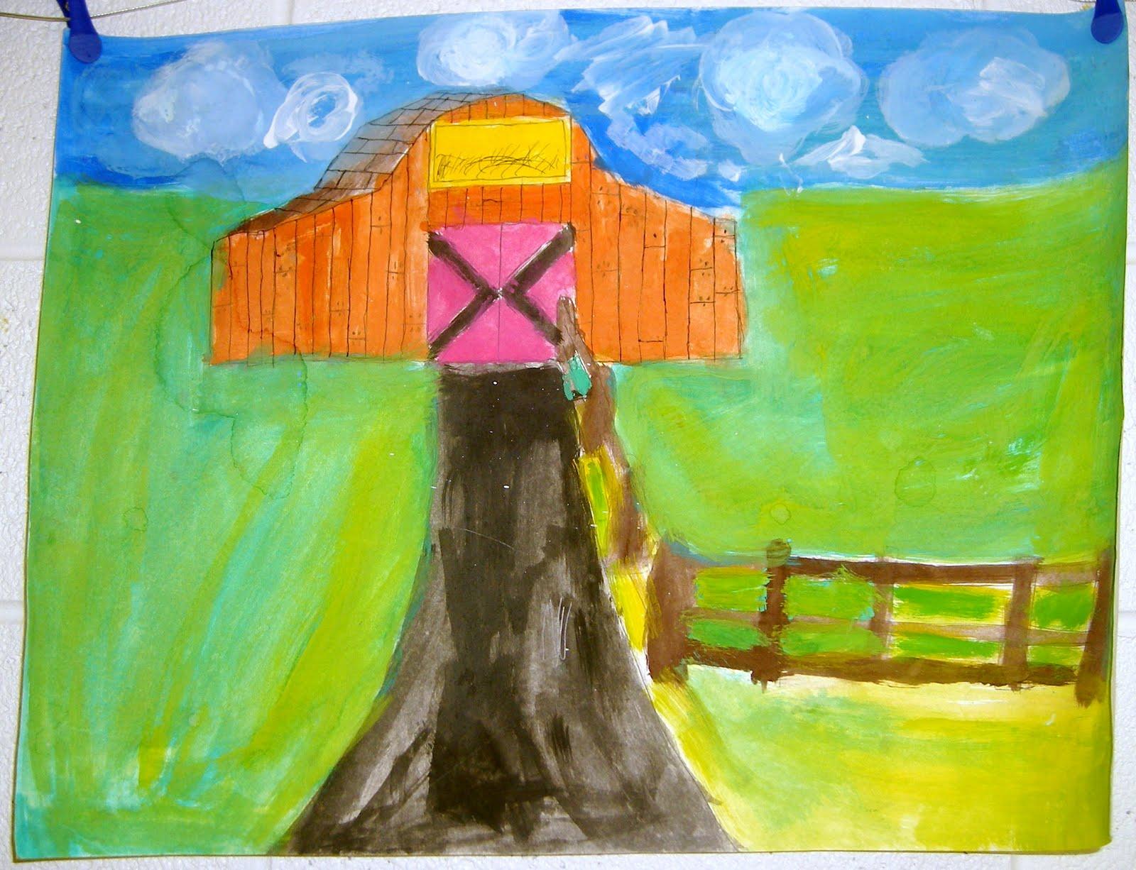 Glass Shack Studio 734 904 Sixth Grade Rural Scenes Art Lesson