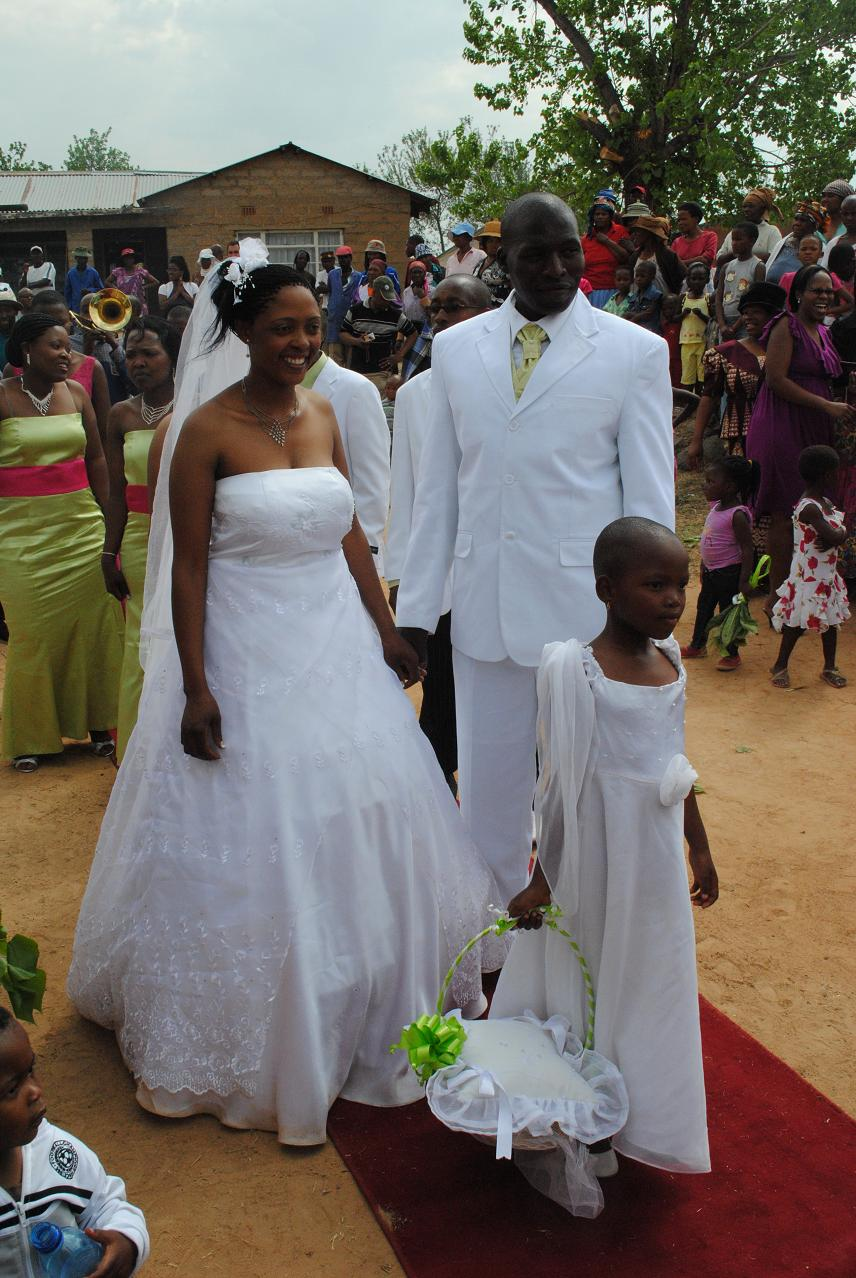 Afro-Photo: White Wedding In Lesotho