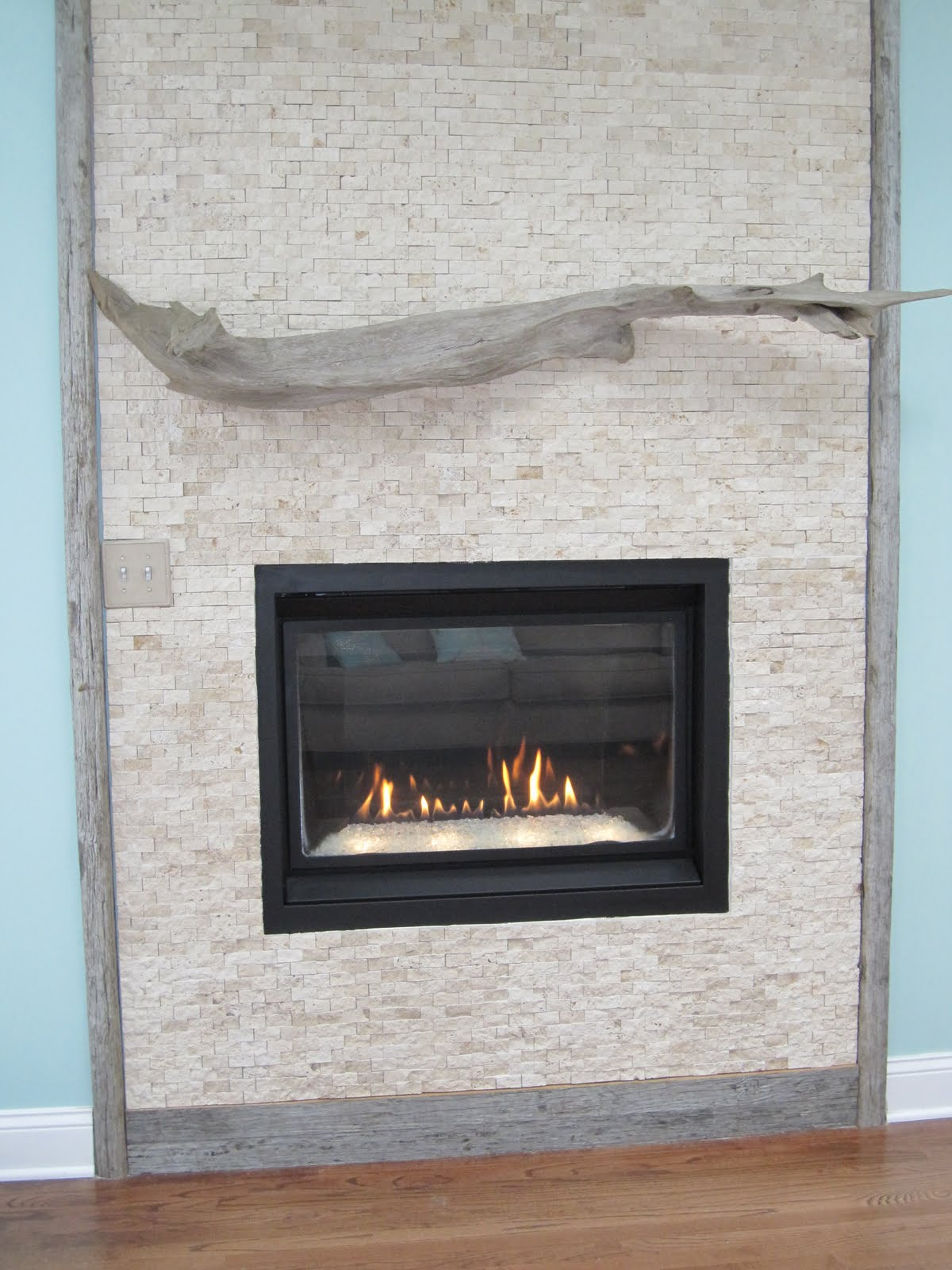By the Sea: Our Driftwood Fireplace Mantle