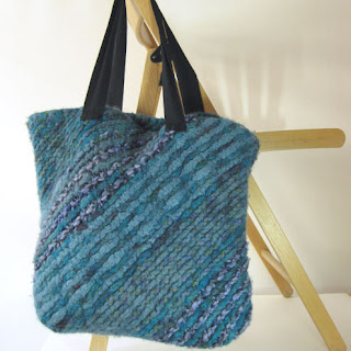 pretty bias knit bag