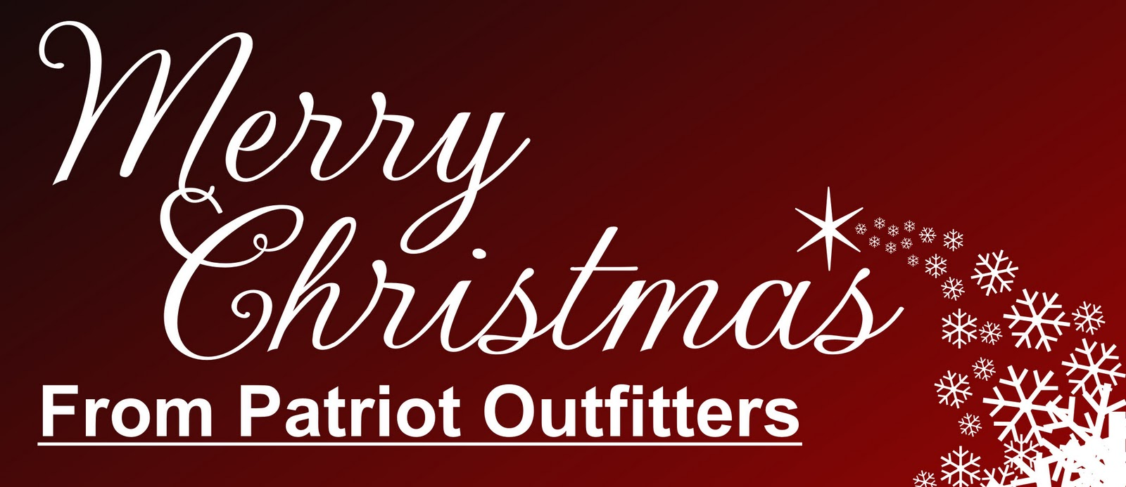 8def4824c9f PATRIOT OUTFITTERS  Patriot Outfitters office closing for Christmas
