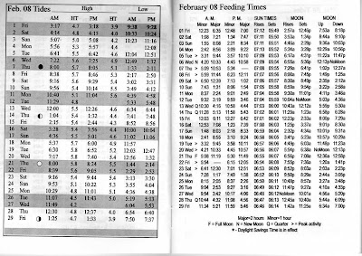 February 2008 Fish Feeding Times And Tide Charts