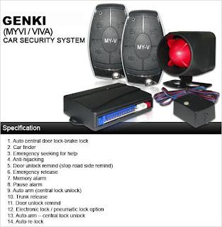 Zack Audio: GENKI Car Alarm System * Special design for
