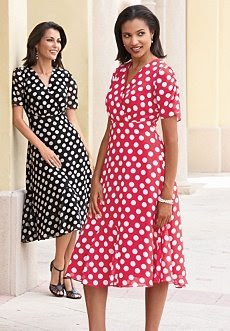 These dresses are the perfect way to wear polka-dots, very cute.