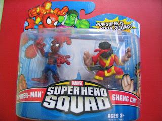 Marvel Super Hero Squad Spider-man Shang Chi Error Variation pack