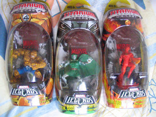 Marvel Legends Titanium Fantastic Four Thing Human Torch Doom Johnny Storm Ben Grimm Victor Von