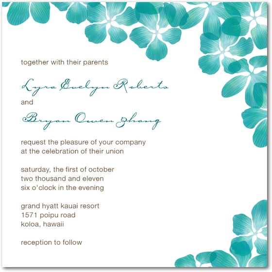 Wedding Invitations Turquoise: Shontreal's Blog: Ocean Union With Calm Turquoise Petal
