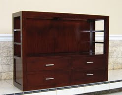 Book Case Cabinet And Drawers Mahogany Teak Wicker