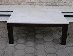 Coffee Table Mahogany Teak Wicker Reproduction
