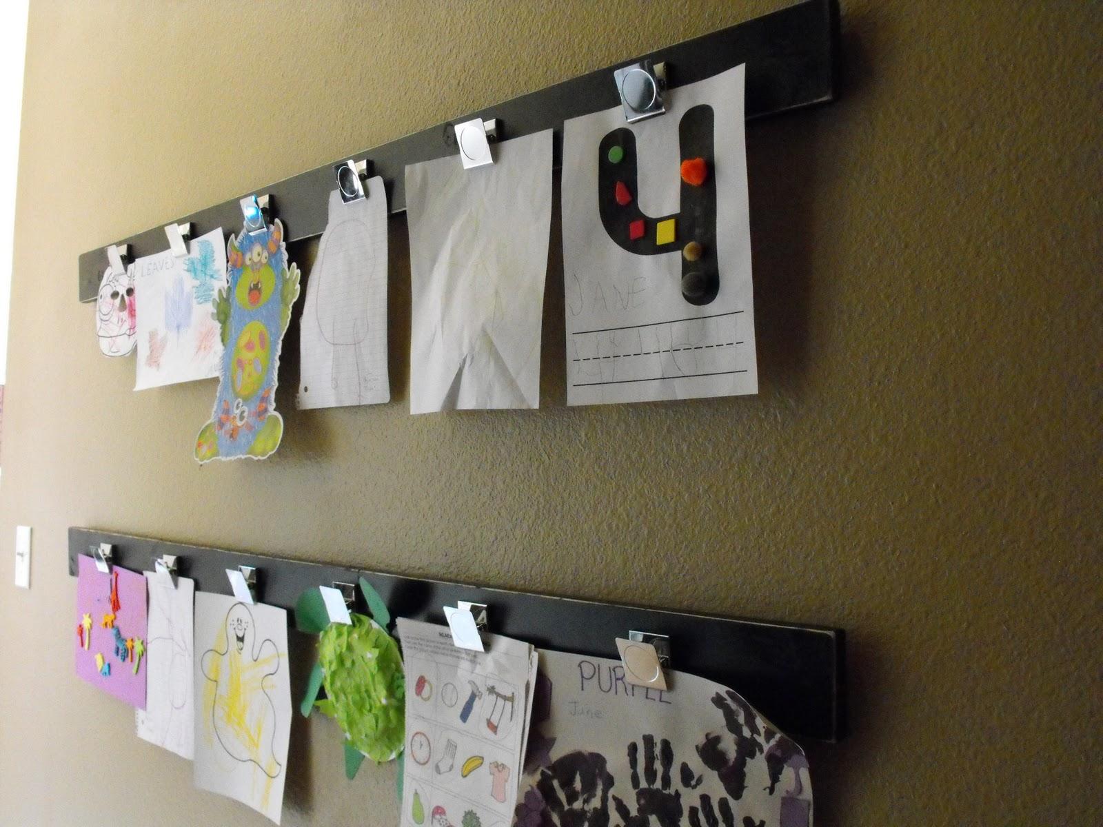 Diy Kids Art Display