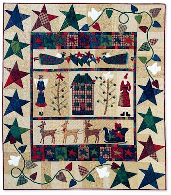 Quilt Inspiration Our Town Part 6 Waiting For Santa