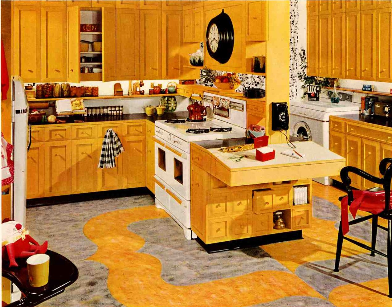 Retro Yellow Kitchen Ideas
