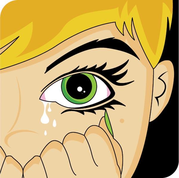 Vectorian Art Girl Cry Cartoon Vectorfree Download Free