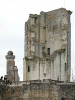 Ruined keep of the chateau of Le Grand Pressigny.  Indre et Loire, France. Photographed by Susan Walter. Tour the Loire Valley with a classic car and a private guide.