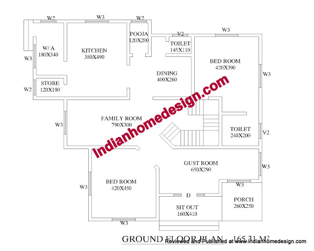1800 sqft 2BHK Deluxe Duplex House Floor Plan