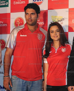preity zinta and yuvraj singh