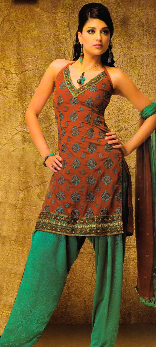 Sleeveless Kameez Salwar - Embroidered Kameez Salwar ~ Ladies Fashion ...