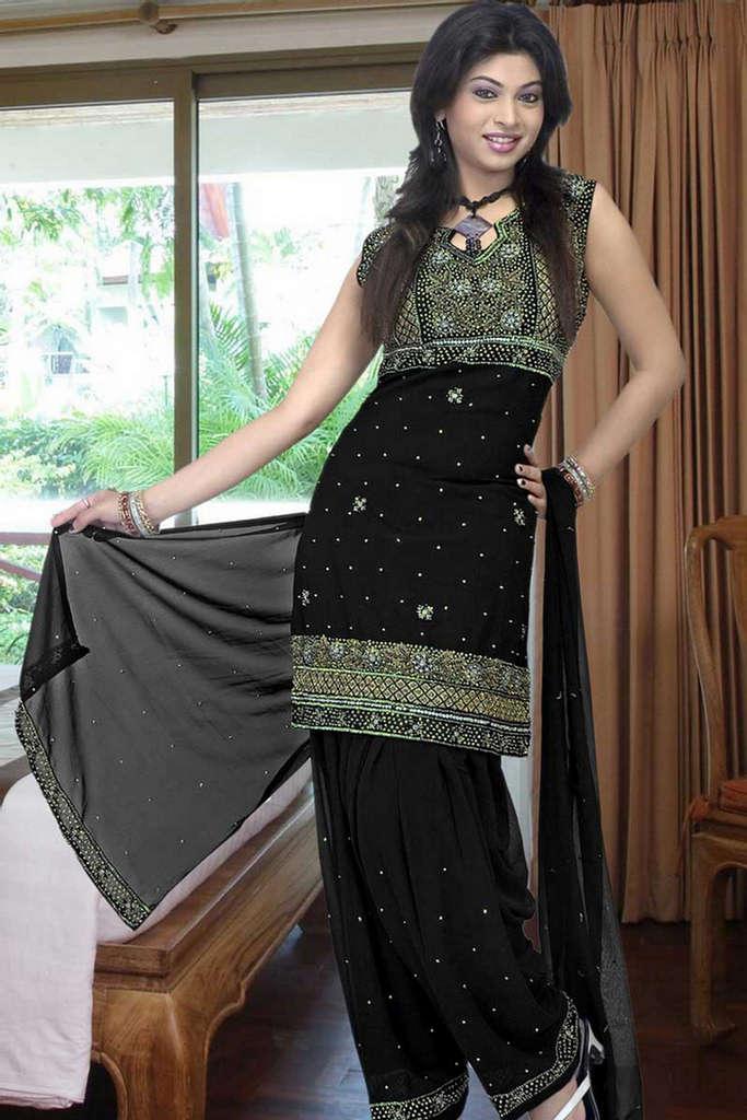Black Salwar Kameez Designer Wedding Salwar Kameez