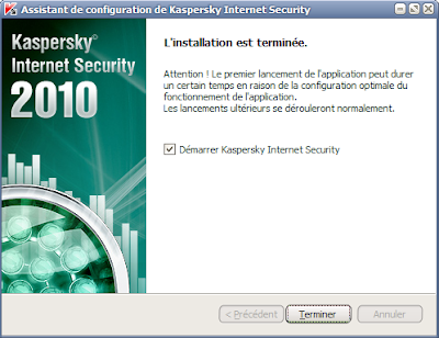 Kaspersky Internet Security 2010 - Installation terminée