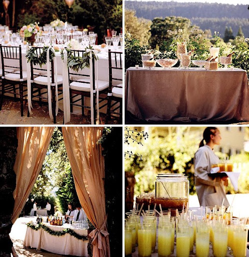 wedding table decor backyard wedding