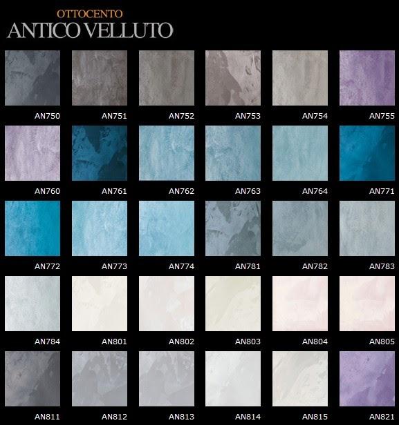 Mobili lavelli campionario colori tinta muro spatolato for Pittura salone