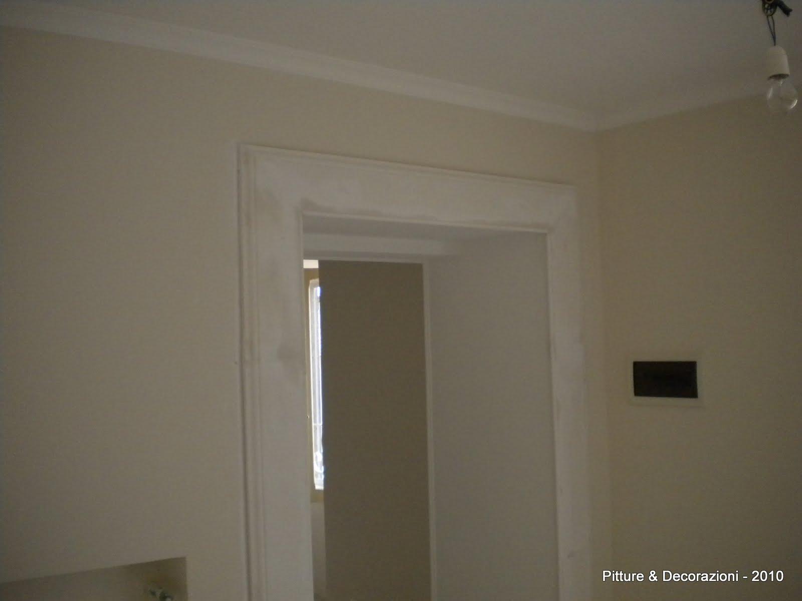 Pitture decorazioni restauro di un appartamento d 39 epoca - Cornice per porte interne ...