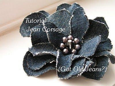 How to Make Recycled Denim Jewelry Tutorials