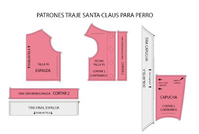 Patrón De Traje De Santa Claus Para Perro Mimi Y Tara