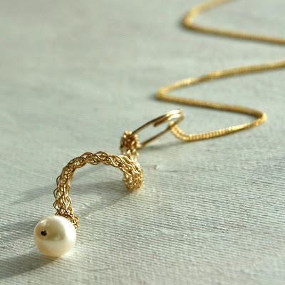 curl pearl gold goldilock yoola swirl yael falk etsy wedding elegant crochet handmade necklace