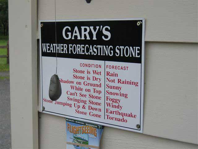 Funny Weather Forecasting Stone Picture