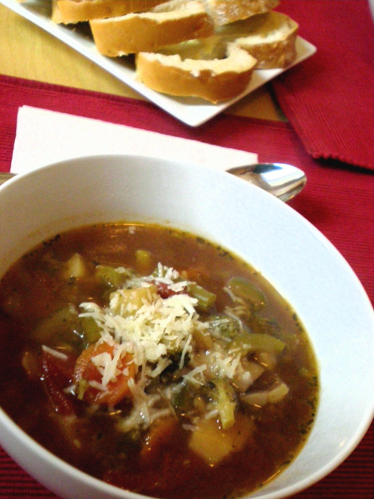 bear necessities: Mum's Minestrone Soup
