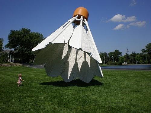 giant shuttlecocks. Black Bedroom Furniture Sets. Home Design Ideas