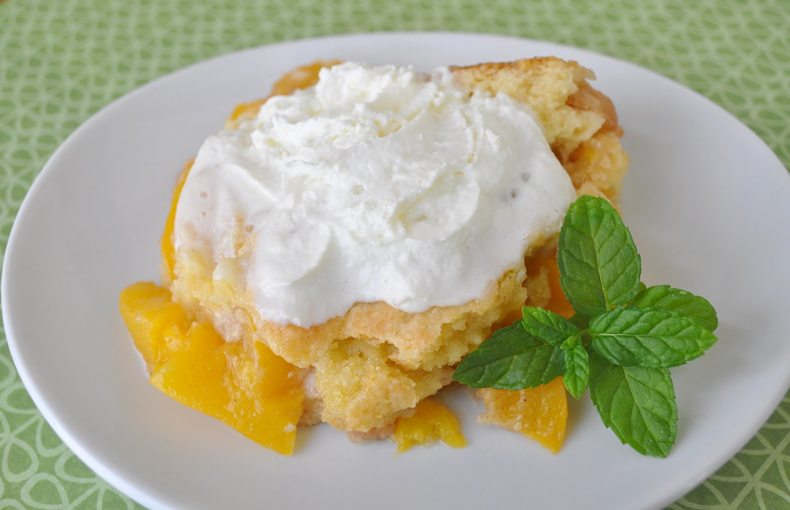 Quick Peach Cobbler With Yellow Cake Mix