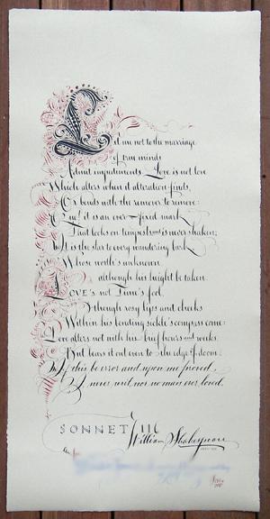 Zentangle: Sonnet 116
