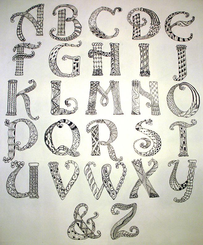 Zentangle: A, B, C, C, D, E, F, G